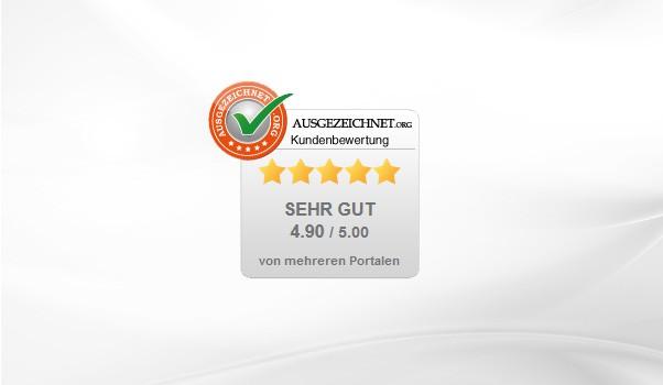 Kundenbewertungen durch AUSGEZEICHNET.ORG